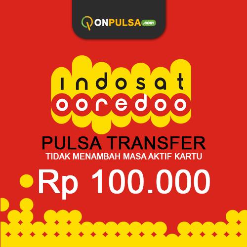 Pulsa Transfer Pulsa Transfer Indosat - Pulsa Transfer 100.000 (tidak menambah masa aktif)