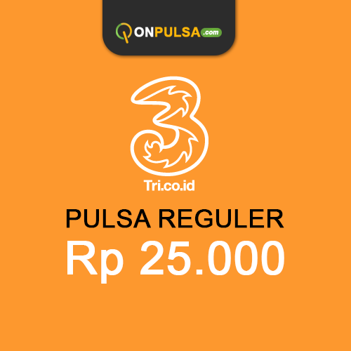 Pulsa THREE - Pulsa Tri 25.000
