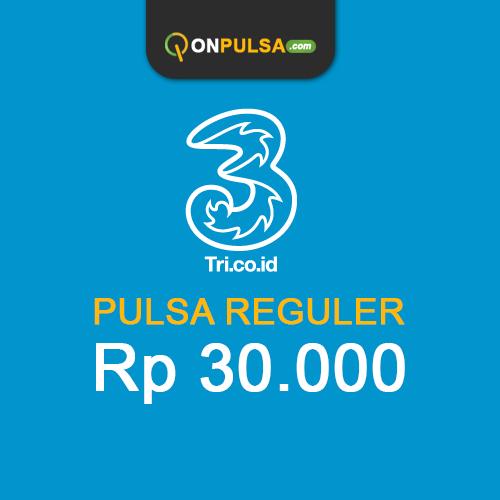 Pulsa THREE - Pulsa Tri 30.000
