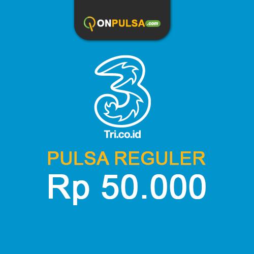Pulsa THREE - Pulsa Tri 50.000