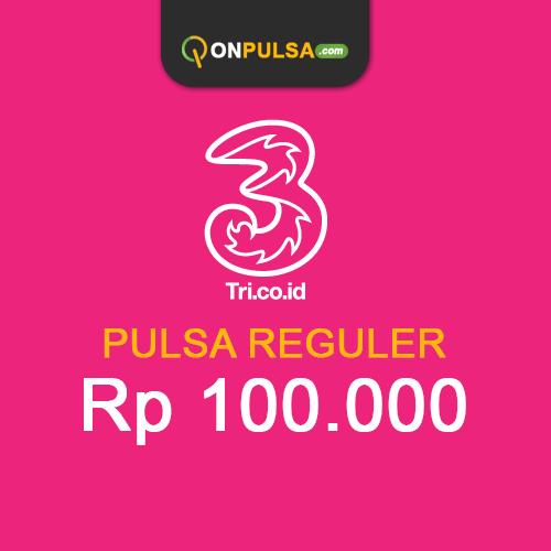 Pulsa THREE - Pulsa Tri 100.000
