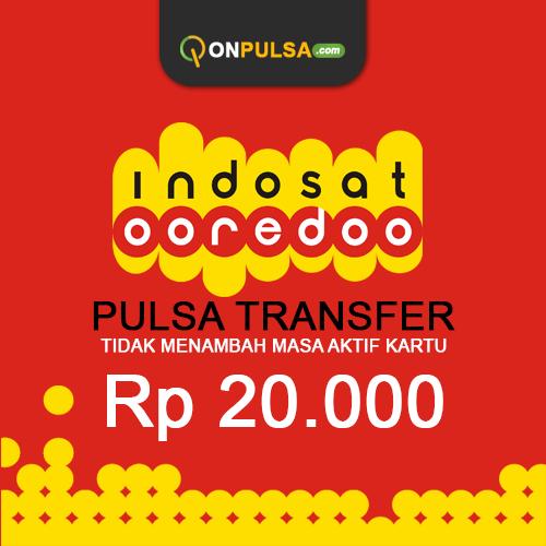 Pulsa Transfer Pulsa Transfer Indosat - Pulsa Transfer 20.000 (tidak menambah masa aktif)
